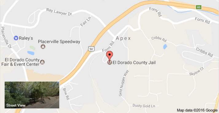 El Dorado County Jail location