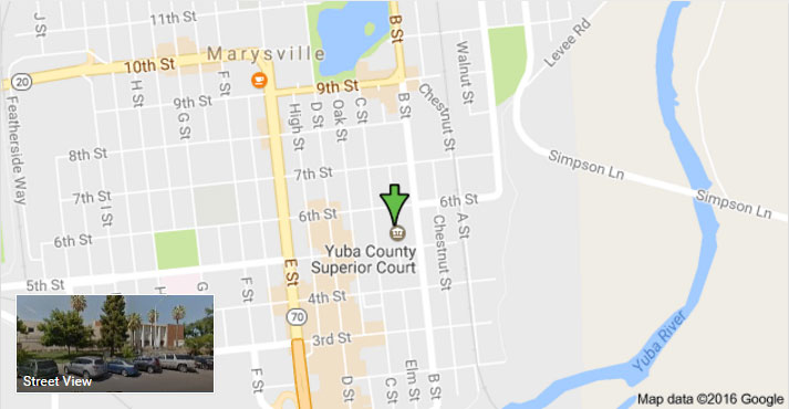 Yuba County Jail location
